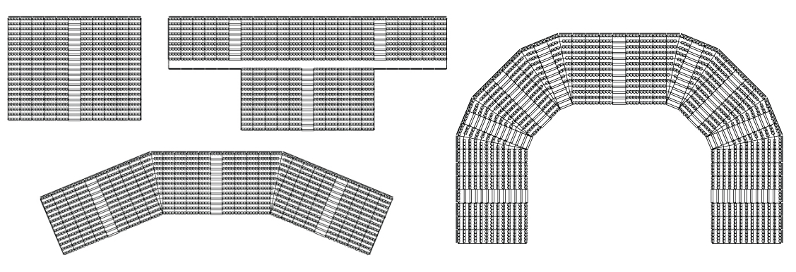 Demountable Bleacher Layout and Shape for Stadium