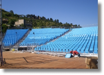 Steel Stadium Seating for Festival / Concert