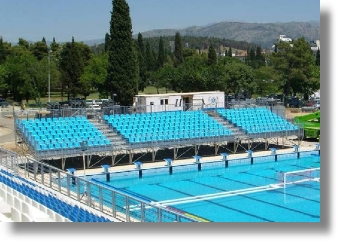 Steel Stadium Seating for Waterpolo