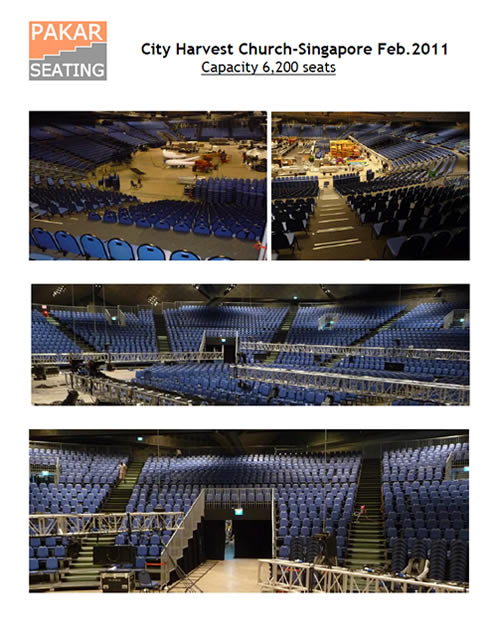 City Harvest Church- Singapore Feb.2011 Capacity 6,200 seats