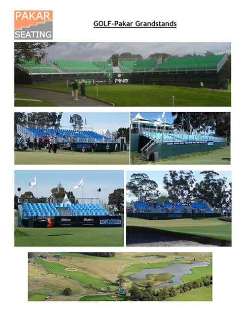 Golf - Pakar Grandstands