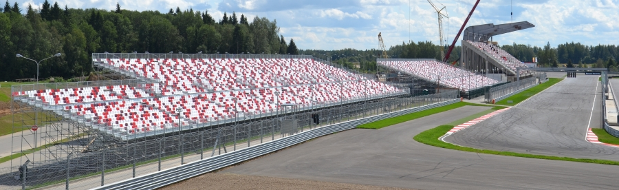Moscow raceway Grandstand
