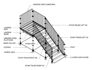 Pakar Stairs system for public area