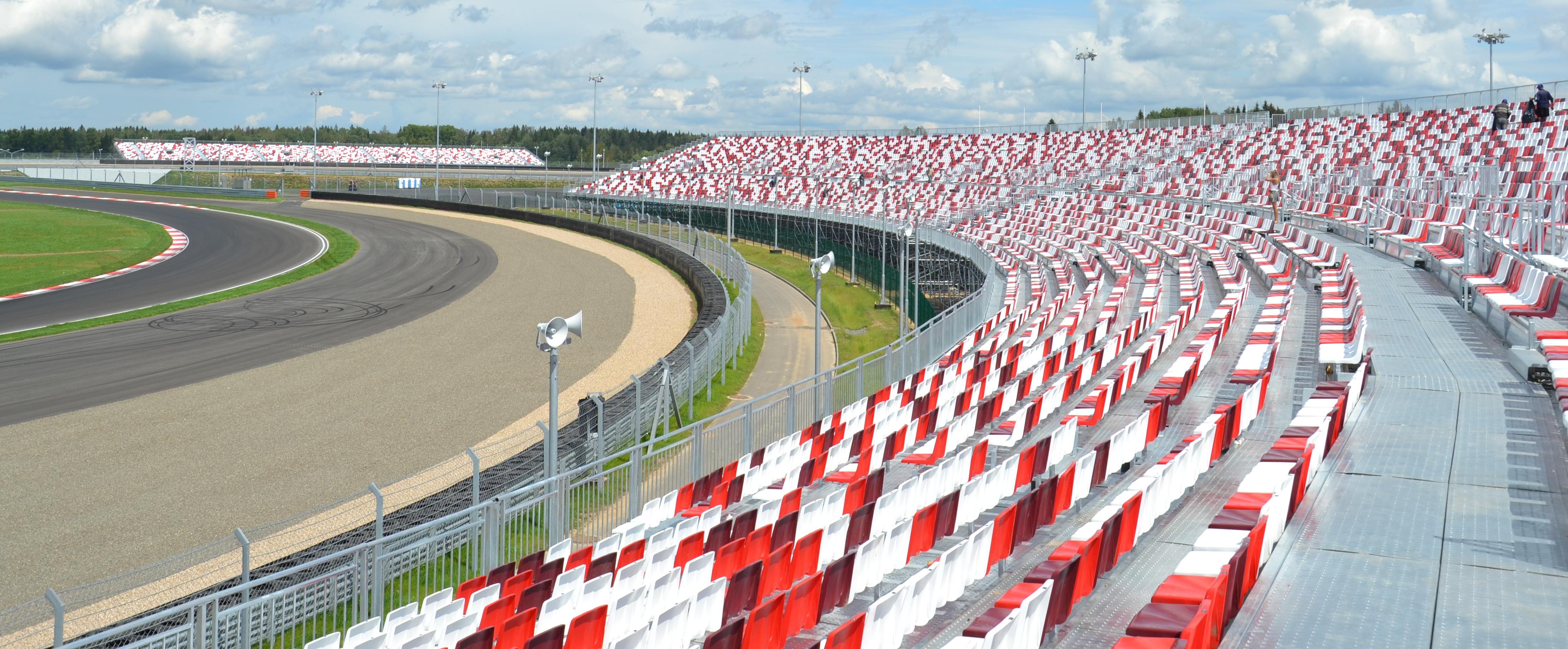 Grandstand Tribune Bleacher Moscow Raceway