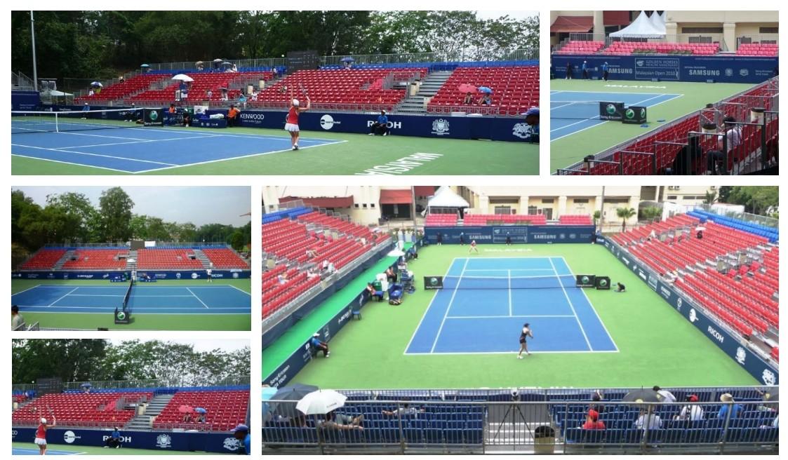 Tennis-WWT - Kuala Lumpur- February 2010 Grandstand Tribunes Bleachers