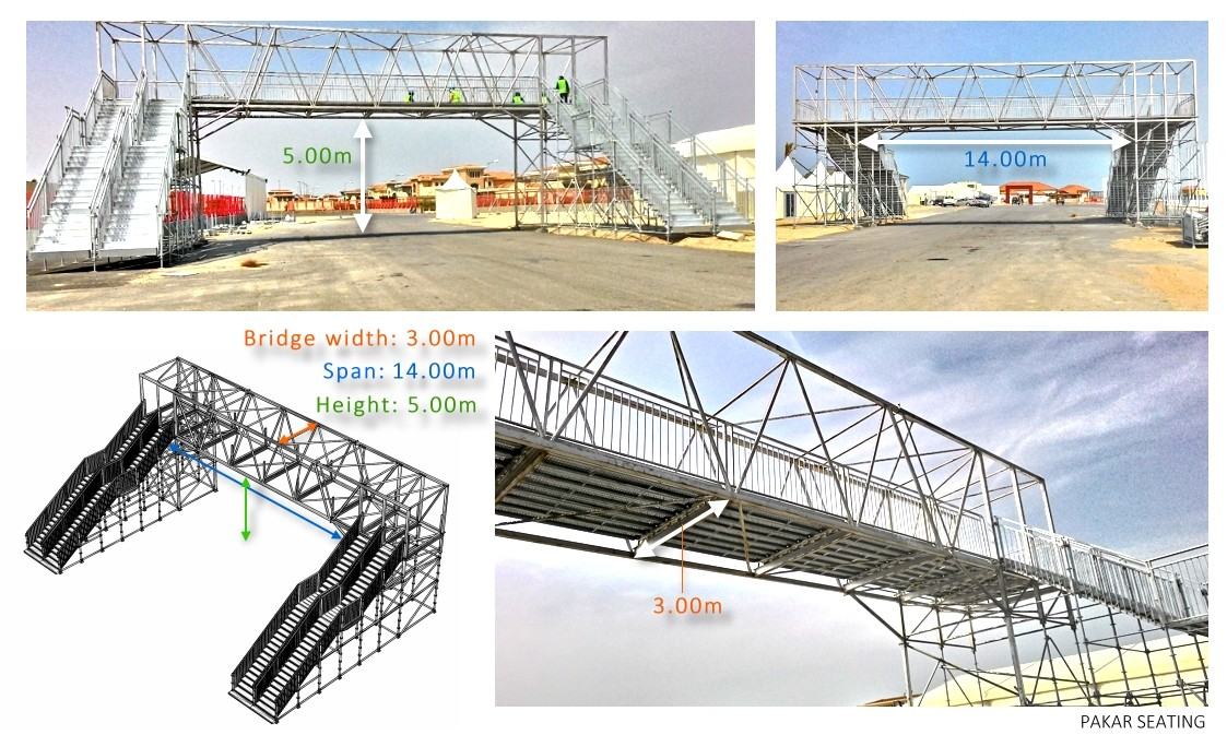Temporary Steel Pedestrian bridge Baku 2015 European Games - Azerbaijan