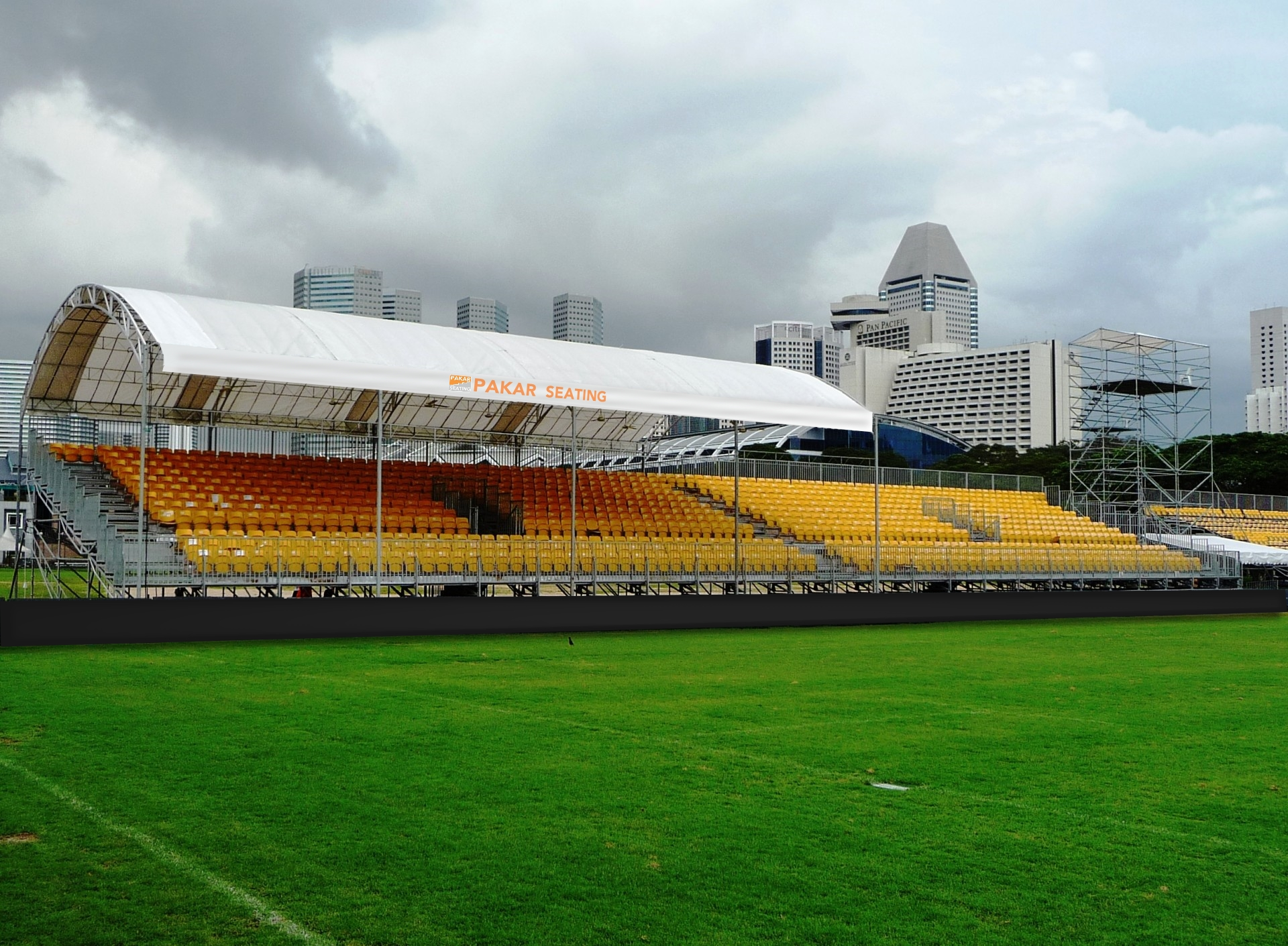 Grandstand design with Roofing