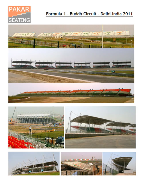 INDIA - Buddh International Circuit - GP F1 - 43,000 seats including 18,000 seats with roof