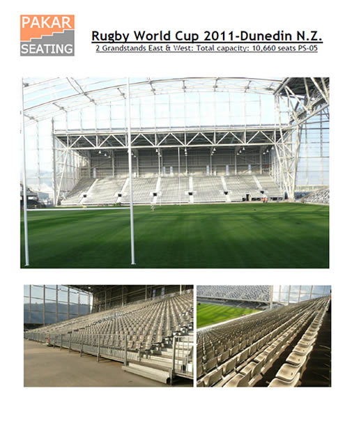 NEW ZEALAND - Dunedin - Rugby World Cup - 11,000 seats
