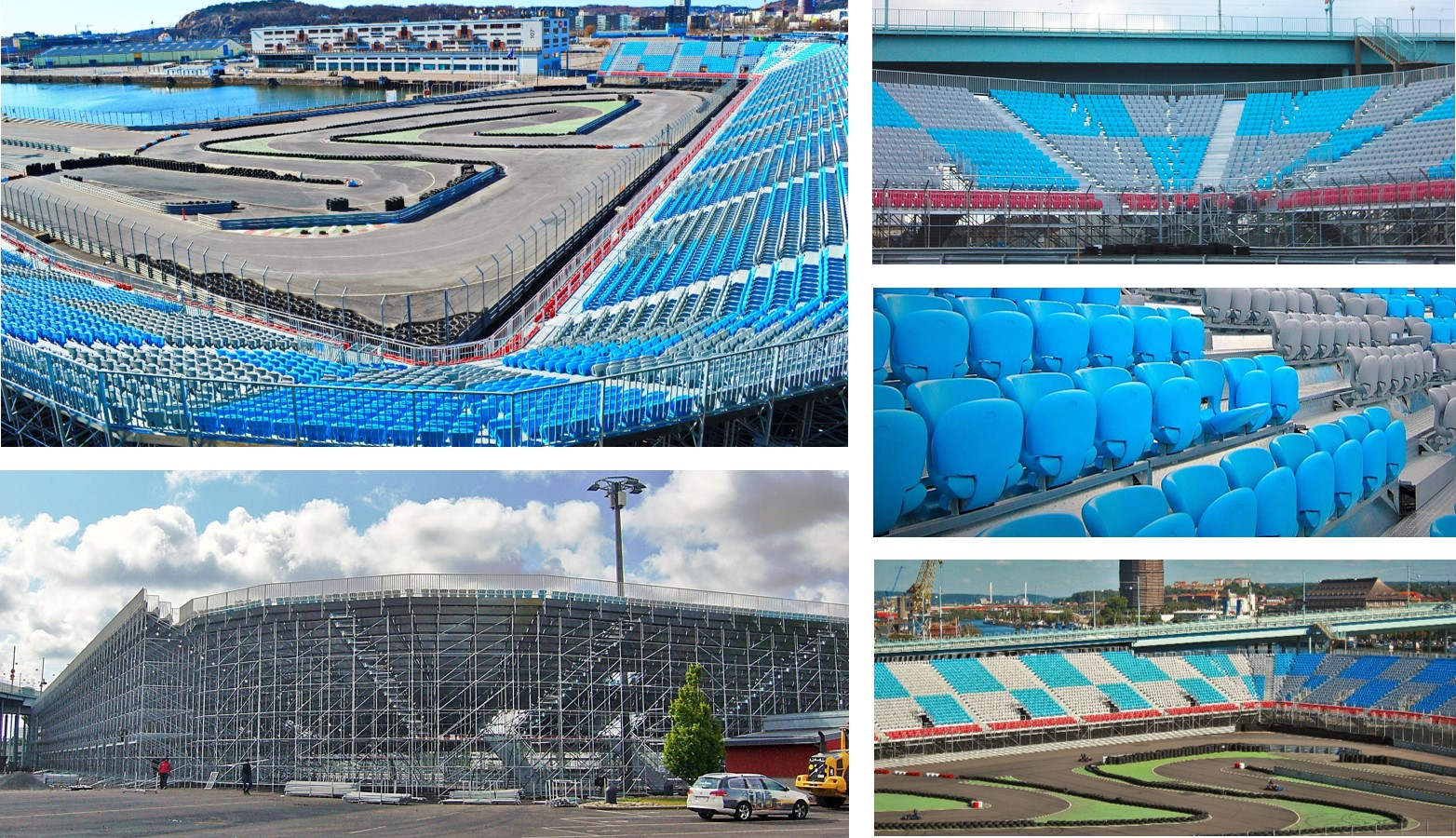 Volvo-Polestar Circuit in Gothenburg (Sweden)2012 10,700 Tip-Up seats PS-08 of Pakar Grandstand tribune bleacher