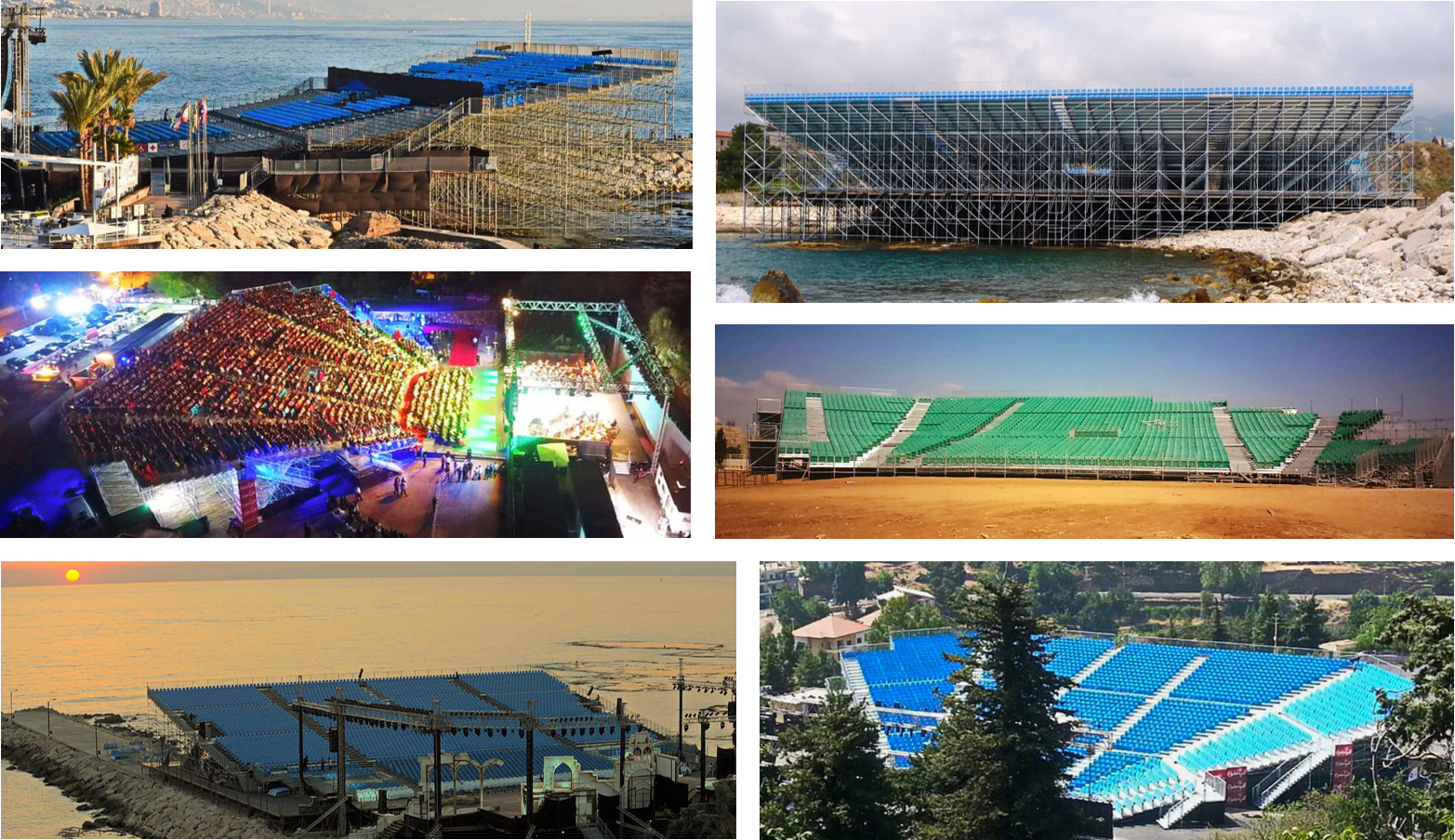 Festival grandstands