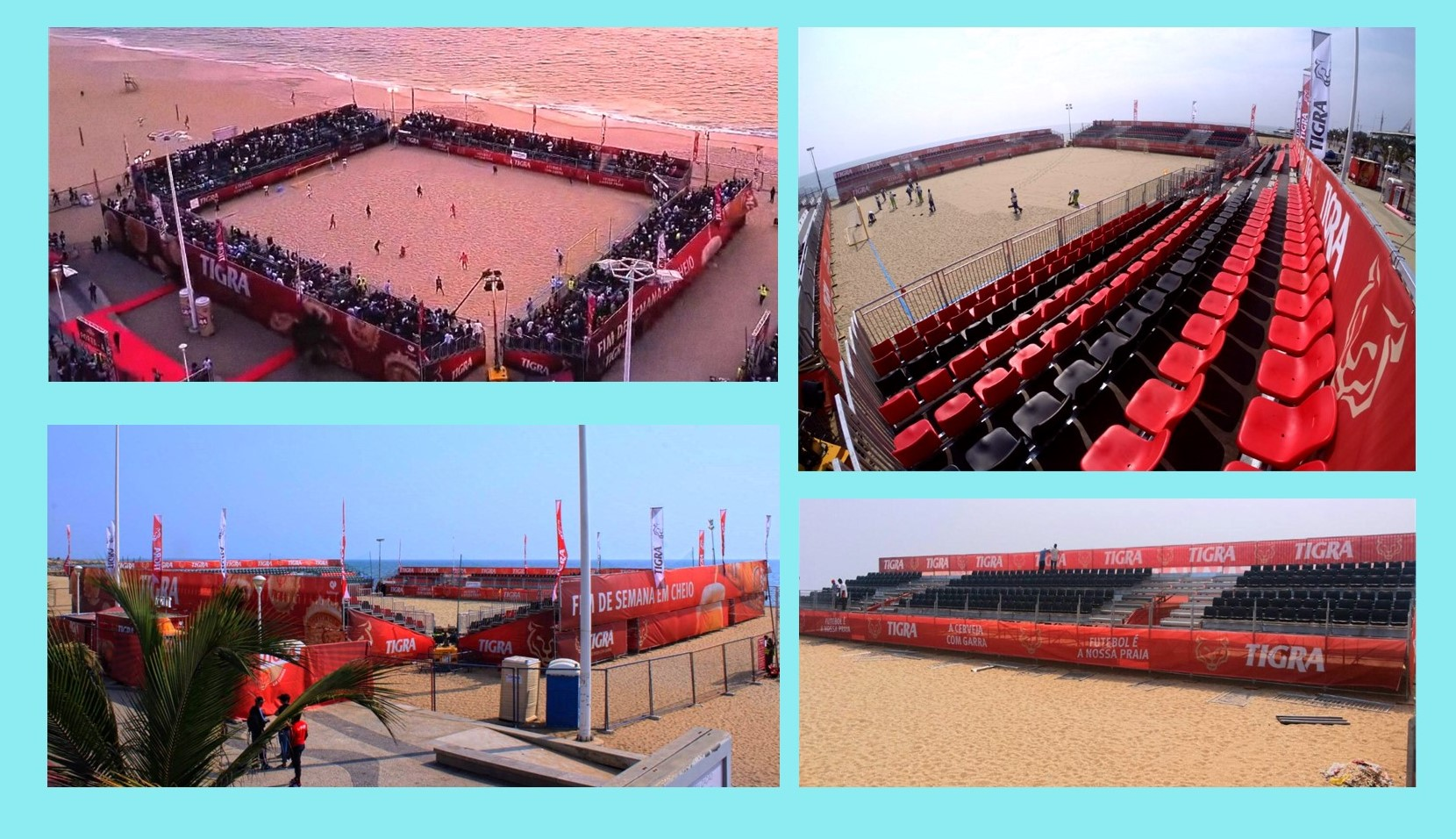 beach soccer Angola 2019 modular stadium