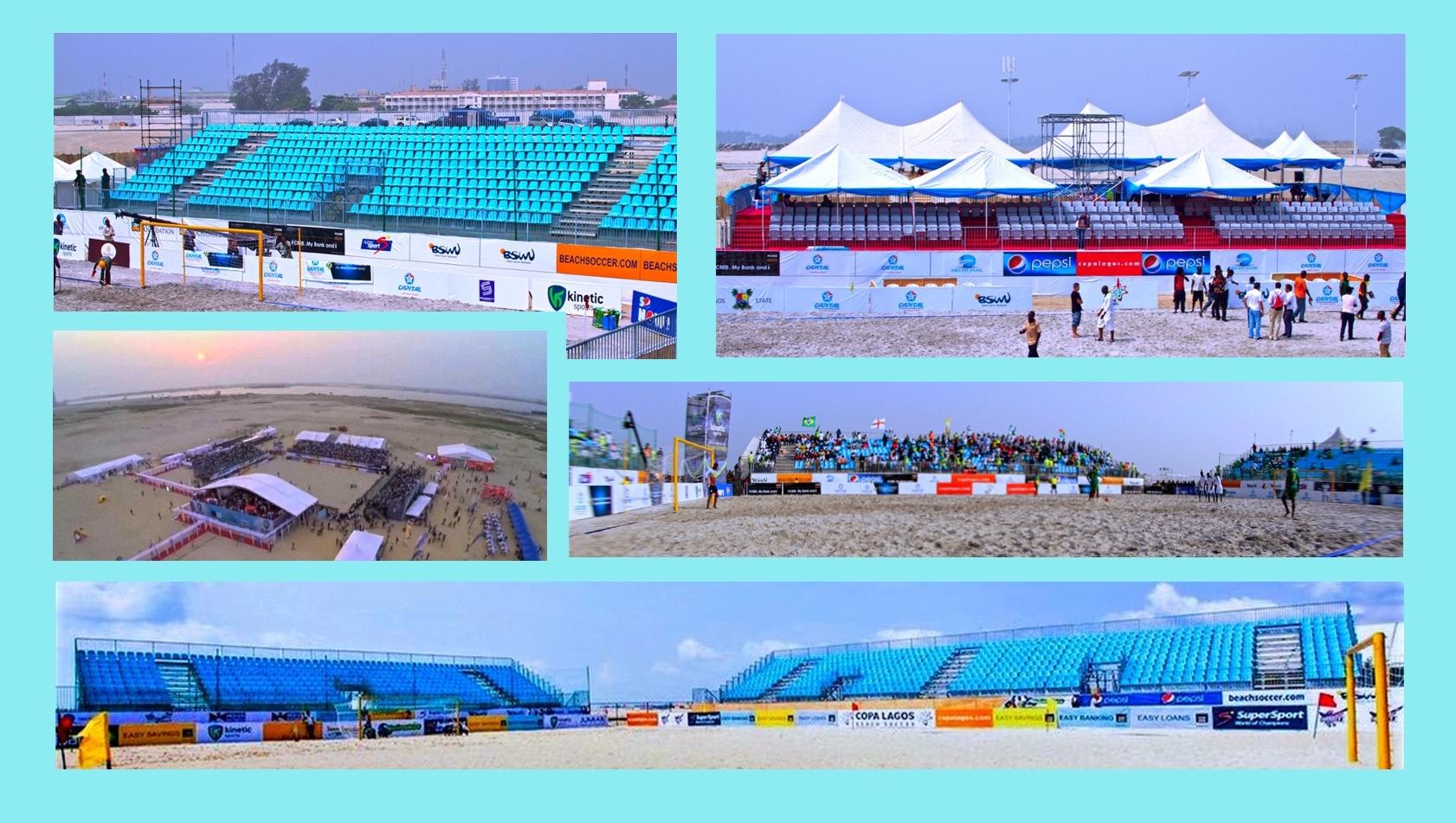 beach soccer Lagos Nigeria 2011 2012_modular stadium