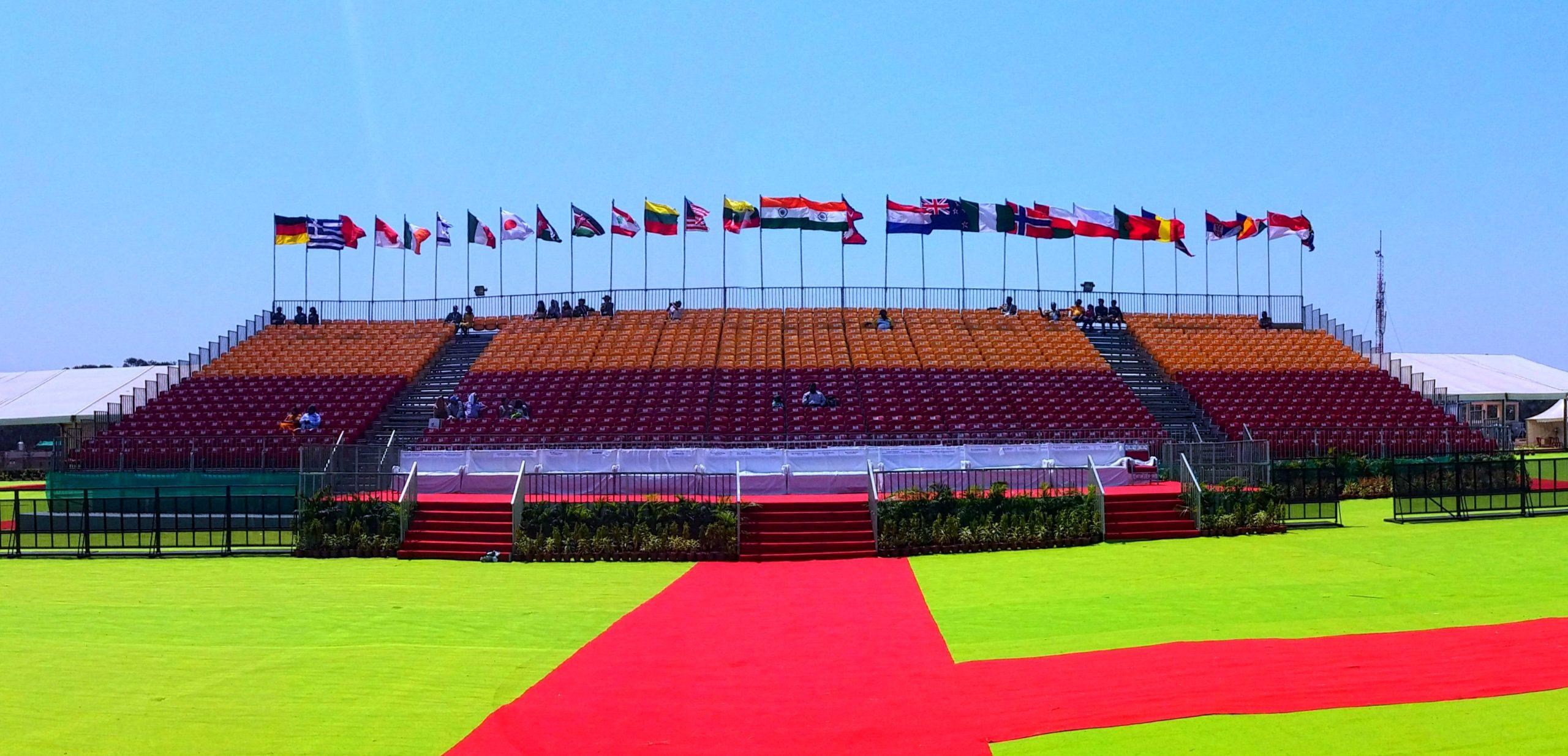 india air show grandstand bleacher system